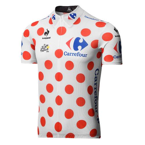 2017 Abbigliamento Ciclismo Tour de France Bianco e Rosso Manica Corta e Salopette