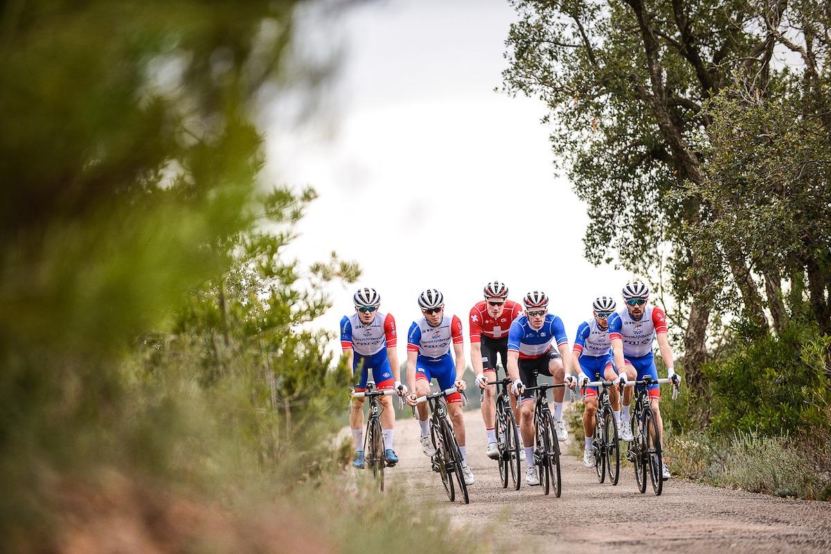maglia ciclismo Groupama-FDJ in linea